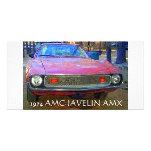 AMC AMX 1974 MUSCLE CARS PICTURE CARD