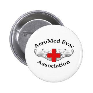 AMEA Logo drop shadow version 6 Cm Round Badge