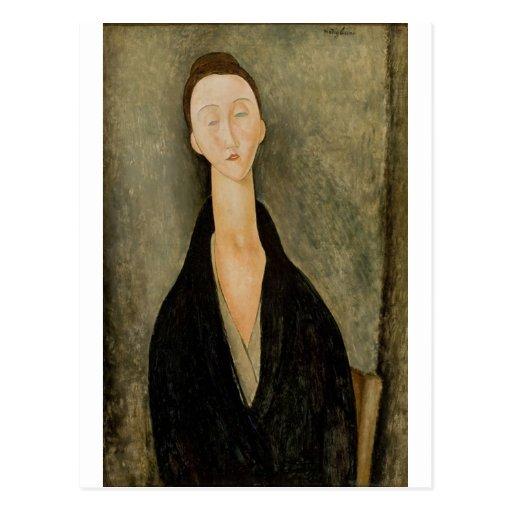 Amedeo Modigliani - Portait Lunia Czechowska 1918 Postcard