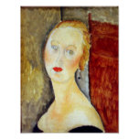 Amedeo Modigliani - portrait de Germaine Survage Poster