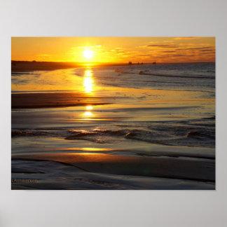 Ameland Sunset Beach Poster