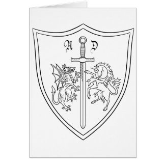Amelia DragonHunter Coat of Arms Coloring Card