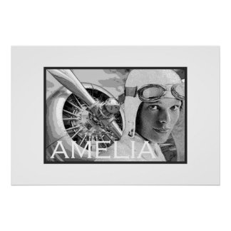 Amelia Earhart and her Electra Propeller Poster