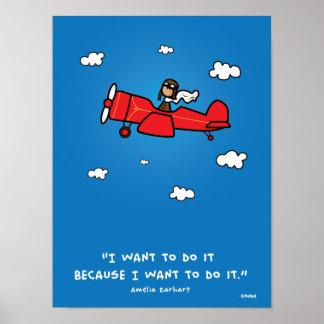 Amelia Earhart poster 18x24 (and same ratio)