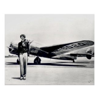 Amelia Earhart Print