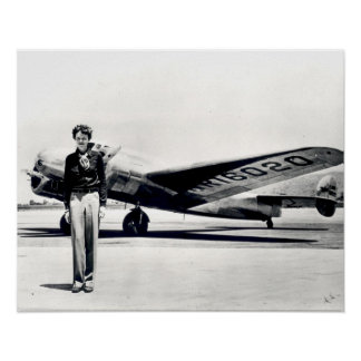 Amelia Earhart standard size Poster