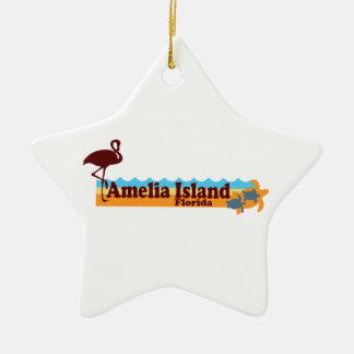 Amelia Island - Beach Design. Christmas Ornament