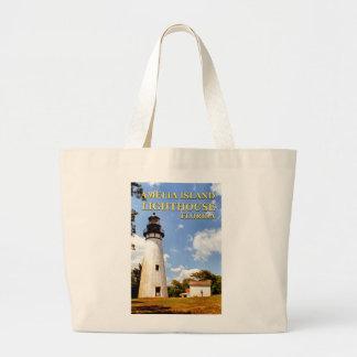 Amelia Island Lighthouse, Florida Jumbo Tote Bag