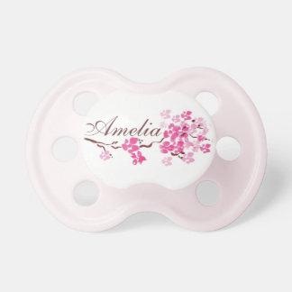 """Amelia"" Personalized Name Cherry Blossom Pacifier"