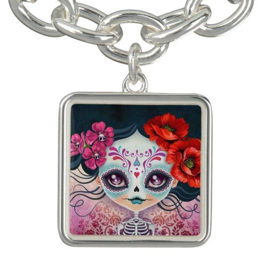 Amelia Sugar Skull Bracelet Charm