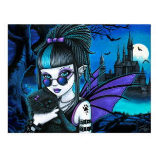 Amelia Vampire Twixt Werekitty Castle Postcard
