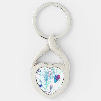 Amelia's Heart Key Ring
