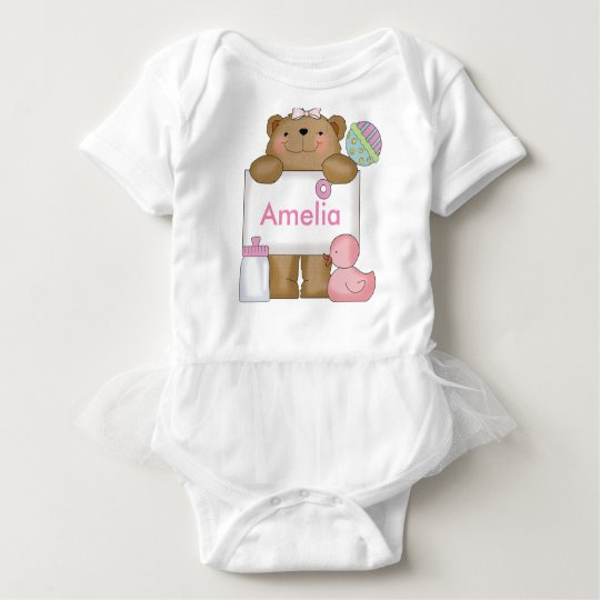Amelia's Personalised Bear Baby Bodysuit