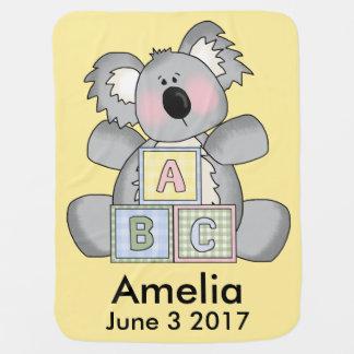 Amelia's Personalized Koala Baby Blanket