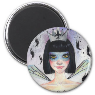 Amelie the faerie 6 cm round magnet