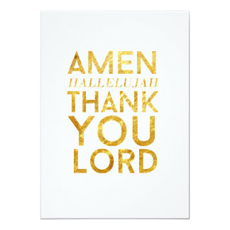 Amen Hallelujah Thank You Lord Desk Card