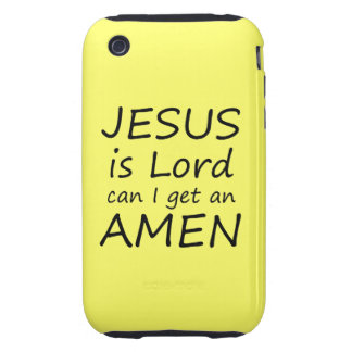 Amen Jesus Case iPhone 3 Tough Case