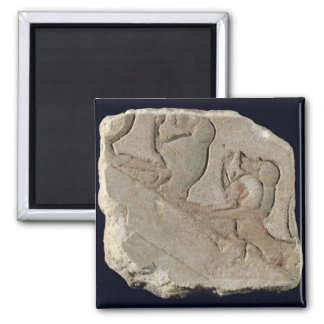 Amenophis IV  with baboons, New Kingdom Square Magnet
