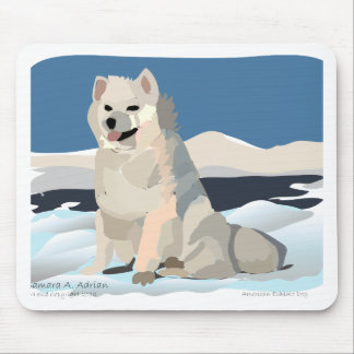 Amercan Eskimo - Just Chillin' Mouse Pad