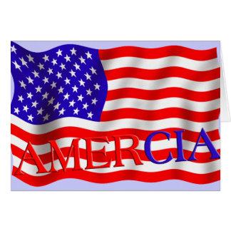 AMERCIA false flag design (America) Cards
