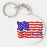 AMERCIA false flag design (America) Keychains