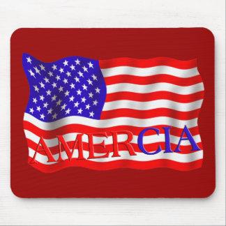 AMERCIA false flag design (America) Mouse Pads