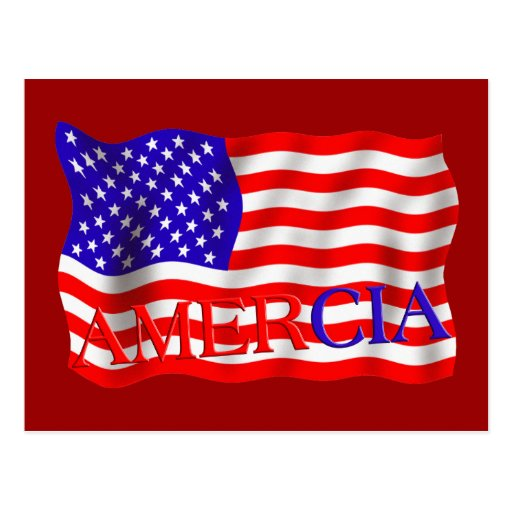 AMERCIA false flag design (America) Post Cards