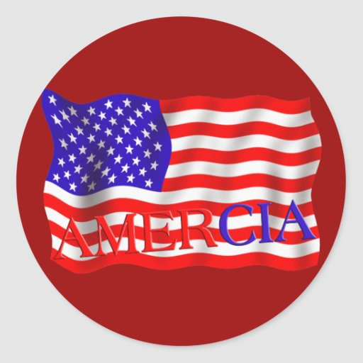 AMERCIA false flag design (America) Round Sticker