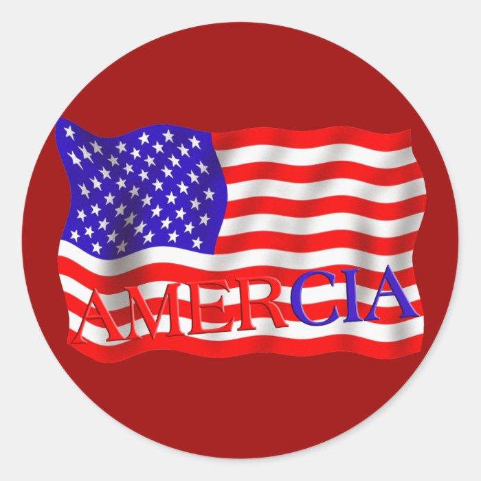 AMERCIA false flag design (America) Round Sticker