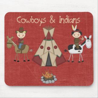 Amercian Cowboy Native American Indian Mousepad
