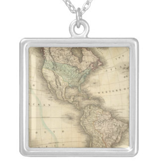 America 10 silver plated necklace
