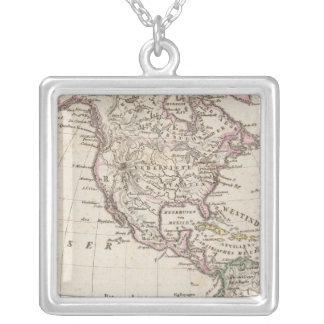 America 3 silver plated necklace