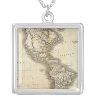 America 5 silver plated necklace