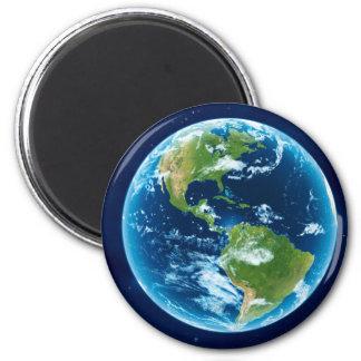 America 6 Cm Round Magnet