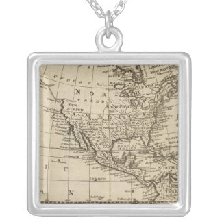 America 6 silver plated necklace