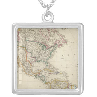 America 7 silver plated necklace