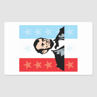 America - Abraham Lincoln President United States Rectangular Sticker