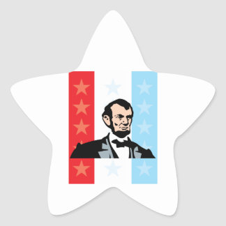 America - Abraham Lincoln President United States Star Sticker