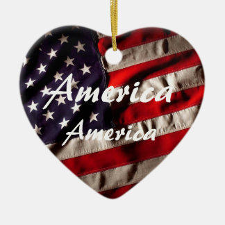 America, America God Shed His Grace on Thee Christmas Ornament