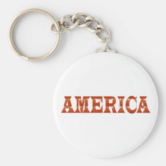 America American USA : RED Artistic Base LOWPRICE Keychain