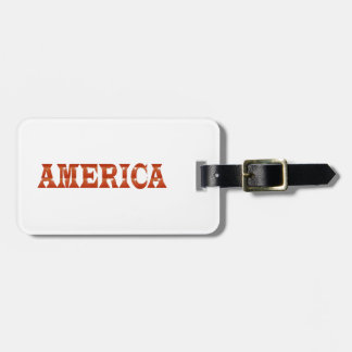 America American USA : RED Artistic Base LOWPRICE Tag For Bags