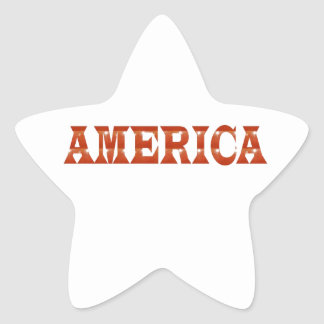 America American USA : RED Artistic Base LOWPRICE Star Stickers