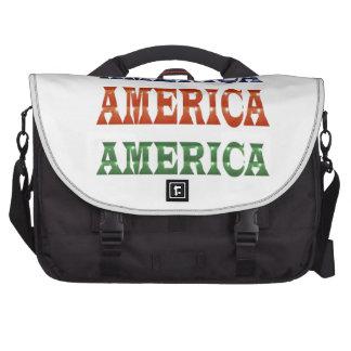 America American USA VALUE Artistic Base LOWPRICE Laptop Messenger Bag