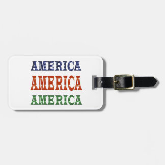 America American USA VALUE Artistic Base LOWPRICE Luggage Tag
