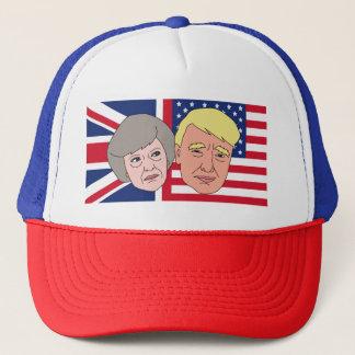 America and Britain Trucker Cap