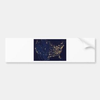 America at Night Bumper Sticker