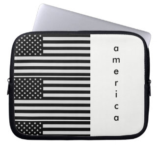 America Black and White Tablet/Laptop Case
