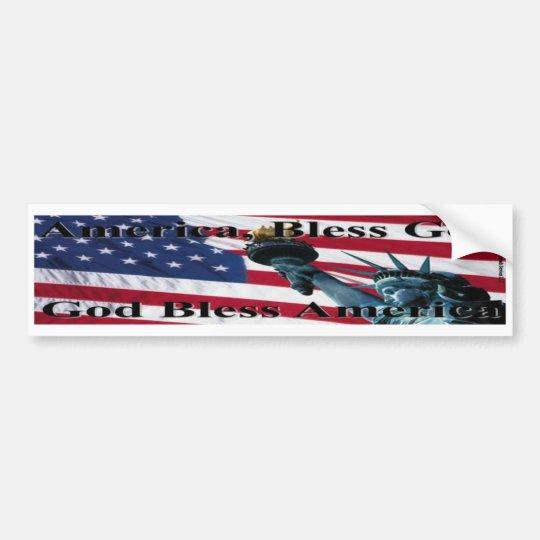America Bless God II Bumper Sticker