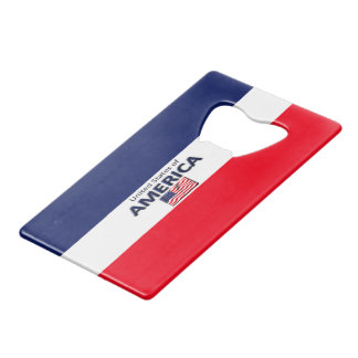 America Blue White Red Credit Card Bottle Opener
