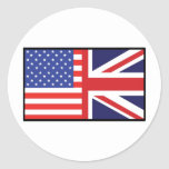 America Britain Classic Round Sticker